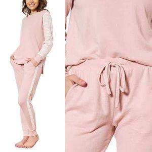 NEW Flora Nikrooz Pink Joggers Sweatpants Lace Med